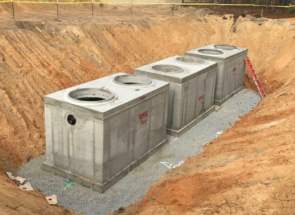 Precast Concrete underground storage