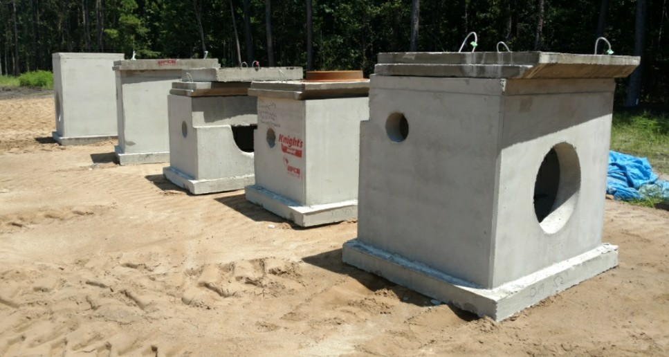 Precast Concrete at a jobsite