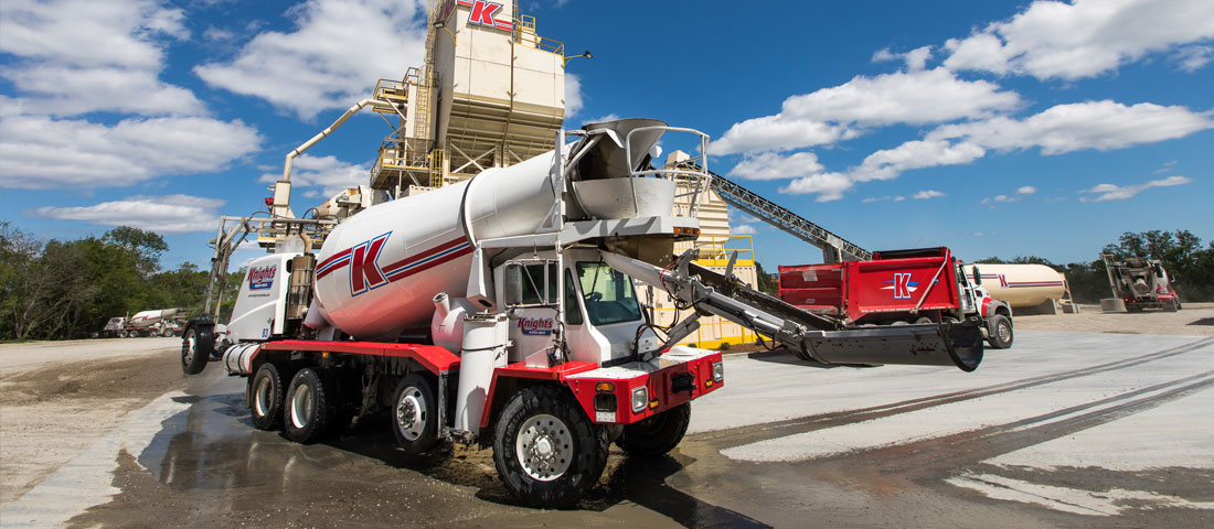 Washed Redi-mix concrete truck