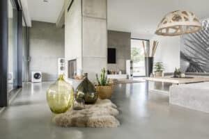 decorative concrete in house