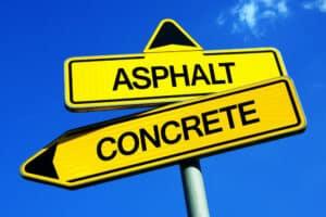 asphalt versus concrete