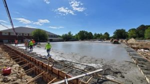 Large slab pour at Palmetto Christian Academy